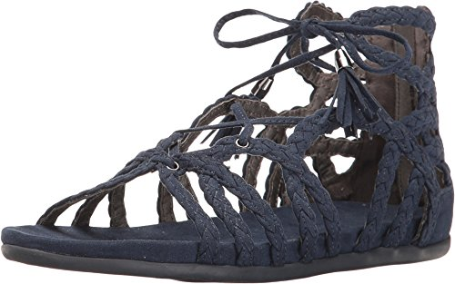 Kenneth Cole Reaction Women's Slim Loop Navy Nubuck Sandal