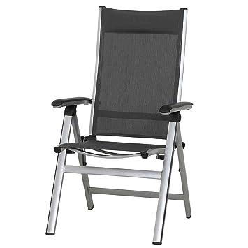 Siena Garden 359987 Core Chaise Pliante Aluminium Argent Noir 70 X 62 108