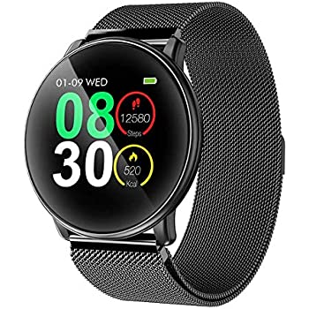 Amazon.com: FITVII Health & Fitness Smart Watch with Blood ...