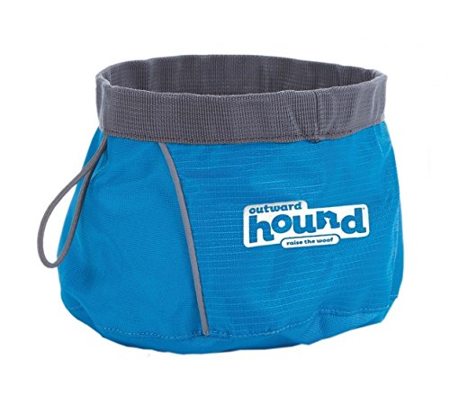 Outward Hound Port a Bowl Collapsible Hiking and Travel Folding Food and Water Bowl for Dogs by, Large