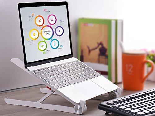 Laptop Stand – JUBOR Adjustable Laptop Stand Portable Foldable Ergonomic Desktop Stand Holder Mount for MacBook Notebook Computer PC iPad Tablet