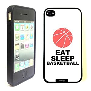 SudysAccessories Eat Sleep Basketball Thinshell Case Protective iPhone 4 Case iPhone 4S Case by Maris's Diaryby Maris's Diary