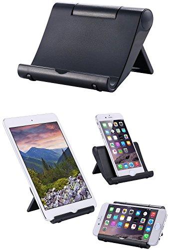 iPad Stand, Multi-Angle Mini Portable Durable ipad cradle Stand for Apple iPad Air/Mini, iPad, Samsung Galaxy / Tab, Google Nexus, HTC, LG, Nokia Lumia, OnePlus and More smart phone stand (Durable Stand)