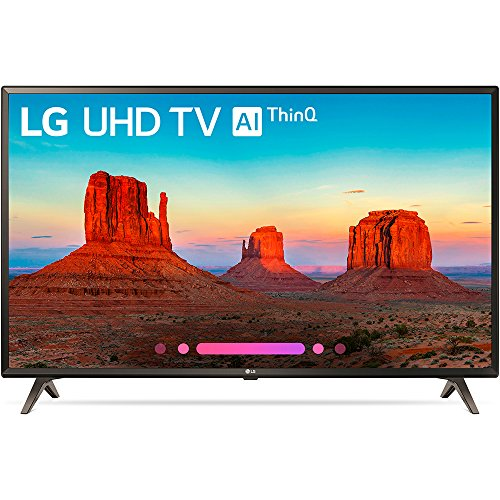 LG Electronics 43UK6300PUE 43-Inch 4K Ultra HD Smart LED TV (2018 Model) (Certified Refurbished)