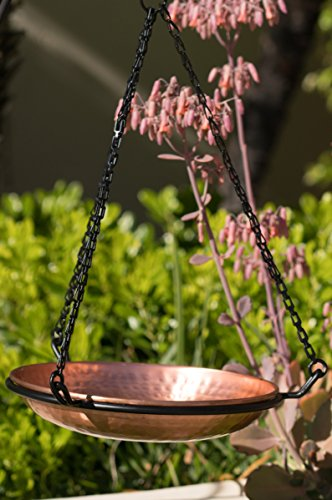 Monarch Abode 17065 Hanging Hammered Copper Bird Bath by Monarch Abode (Image #3)
