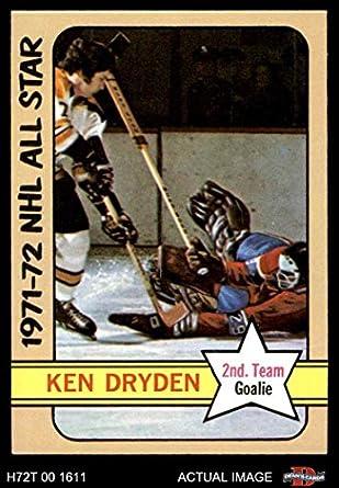 Amazoncom 1972 Topps 127 Ken Dryden Montreal Canadiens