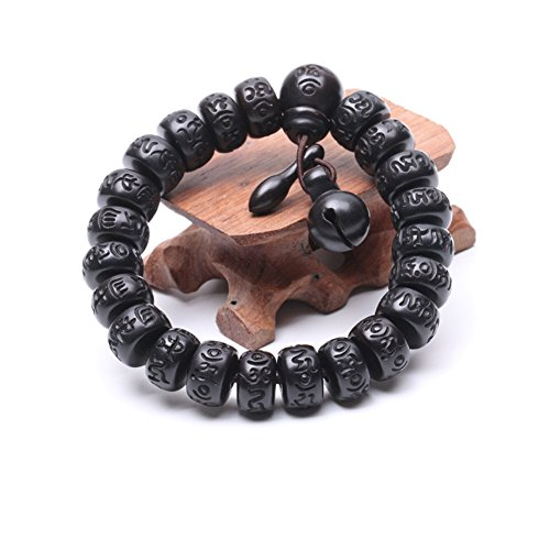 LSM store Vintage wooden prayer beads bracelet (10mm) ()