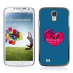 Designer Depo Hard Protection Case for Samsung Galaxy S4 / Heart Grenade
