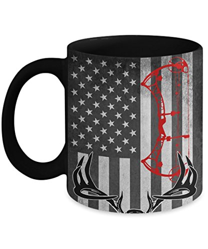 Deer Bow Hunting Gift 11oz Coffee Mug for Hunters
