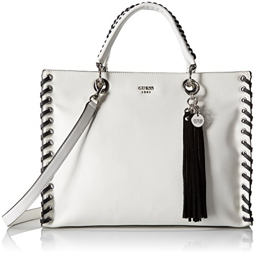 GUESS Fynn Laced Carryall, White/Multi