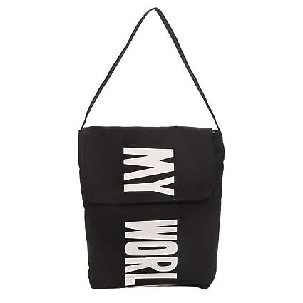 7614b659e0ca Amazon.com: Yiwanjia Durable Canvas Classic Messenger Bag Women ...