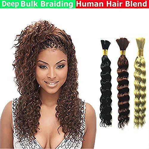 Deep Bulk Braiding Hair, Human Hair blend, Micro Braids, Hot Selling, Length 18