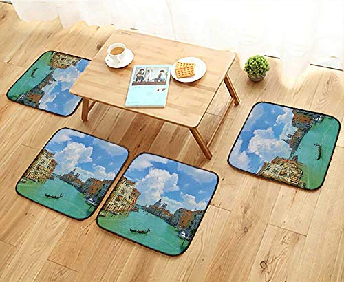 Jiahonghome Universal Chair Cushions Grand Canal,Venice,Italy Personalized Durable W15.5 x L15.5/4PCS Set ()