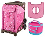 Zuca Sport Bag - Sweet Heartz with gift Lunchbox and Seat Cover (Brown)