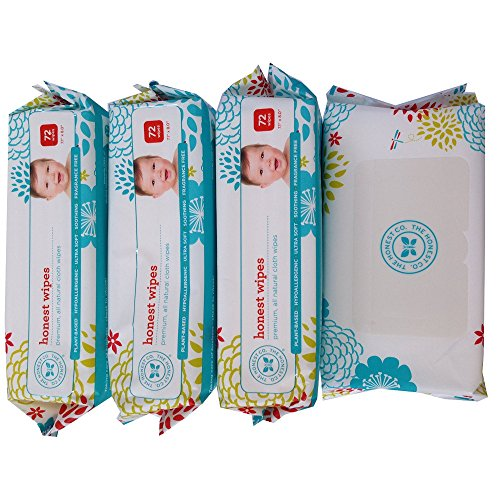 4 Pack - The Honest Company Wipes - (4 Packages of 72 Ct)