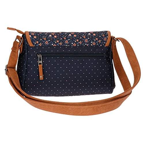 Nancy Borsa Messenger, 28 cm, 5.6 liters, Blu (Azul)