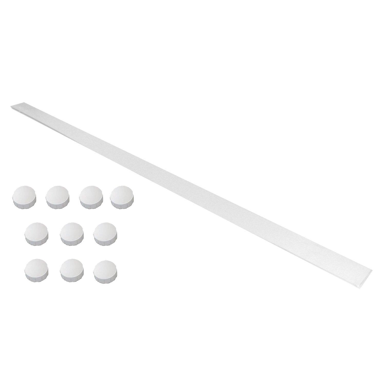 1, Mit Gelben Magneten 24mm Wandleiste selbstklebend wei/ß 100x5cm