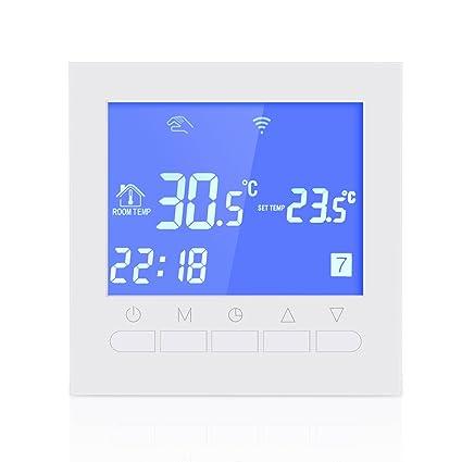 Morza Programable WiFi termostato Electricidad o Agua de Suelo Radiante Termostato Display LCD WiFi Inteligente Controlador