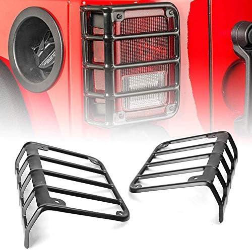 Bosmutus J-e-ep Wrangler Tail Light Guard | Stainless Steel Powder Coated Brake Light Assembly Cover | 2007 – 2018 JK Unlimited [1 Pair]