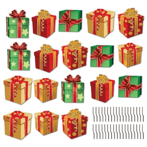 Christmas Presents Pathway Markers Set Of 18 Flat