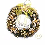 Christmas decorations Christmas scene pendant 60cm pine needles rosette Christmas tree decoration,Gold