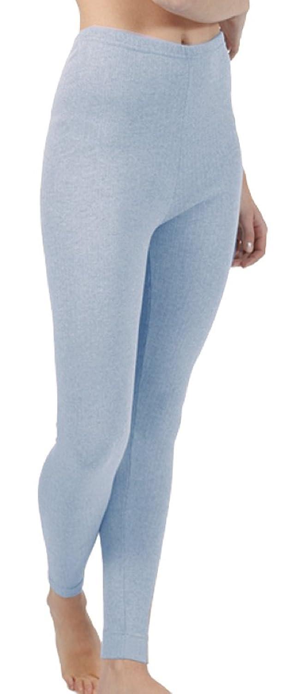 Lange Ski-Unterhose Damen Funktions-Unterwäsche lange Thermo-Unterhose innen angeraut grau, blau oder wollweiss