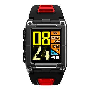 XuBa - Reloj Inteligente Profesional de natación, Deportivo, Impermeable, IP68, Monitor de Actividad física, Monitor de Ritmo cardíaco Rojo Rosso: ...
