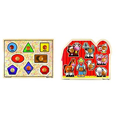 Extra Large Jumbo Knob Puzzles (Set of 2) from Melissa And Doug