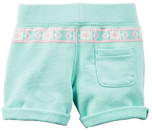 Carter's Little Girls' French Terry ''Happy'' or ''Love'' French Terry Shorts (8, Teal ''Love'') by Carter's (Image #1)'