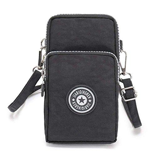 Cross-body Mobile Phone Shoulder Bag Pouch Case Belt Handbag Purse Wallet Black