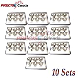 PRECISE CANADA: SET OF 10 DENTAL IMPRESSION TRAYS BABY SET OF 6 PCS SOLID DENTAL INSTRUMENTS