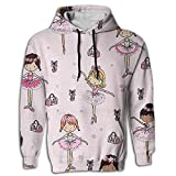 MCPWY Art Ballet Mens Sleeve Hoodie Personalized Boys Mens Hoodies Unique Color Sweatshirt Men