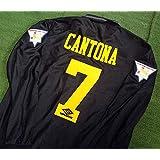 4bd93ab06f6 Retro Cantona 7 Manchester United Longsleeve Soccer Jersey Kang-FU Kick Full  Premier Patch
