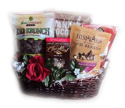 Amazon Com Raw Vegan Valentine S Day Gift Basket By Well Baskets