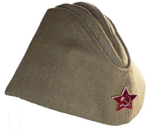 Russian Army Pilotka Garrison Cap 62 Soviet Red -