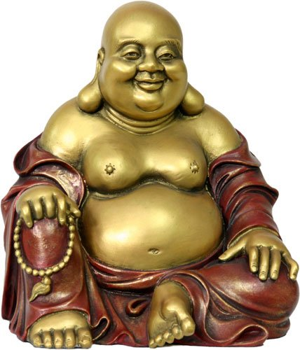 Ancient Treasures Happy Buddha Laughing Desktop Size Statue