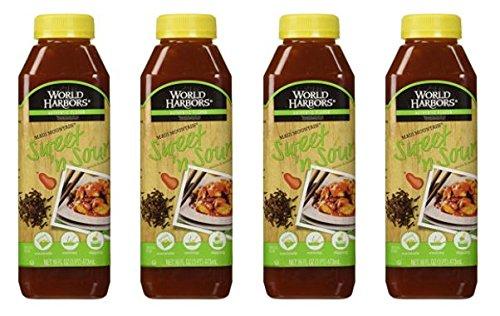 World Harbor, Maui Mountain, Hawaiian Style Sweet & Sour Sauce, 16oz (Pack of 4)
