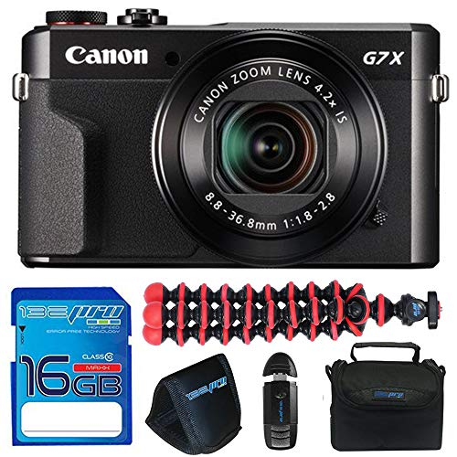 Canon PowerShot G7 X Mark II 20.1MP Digital Camera + 16GB Accessory Kit