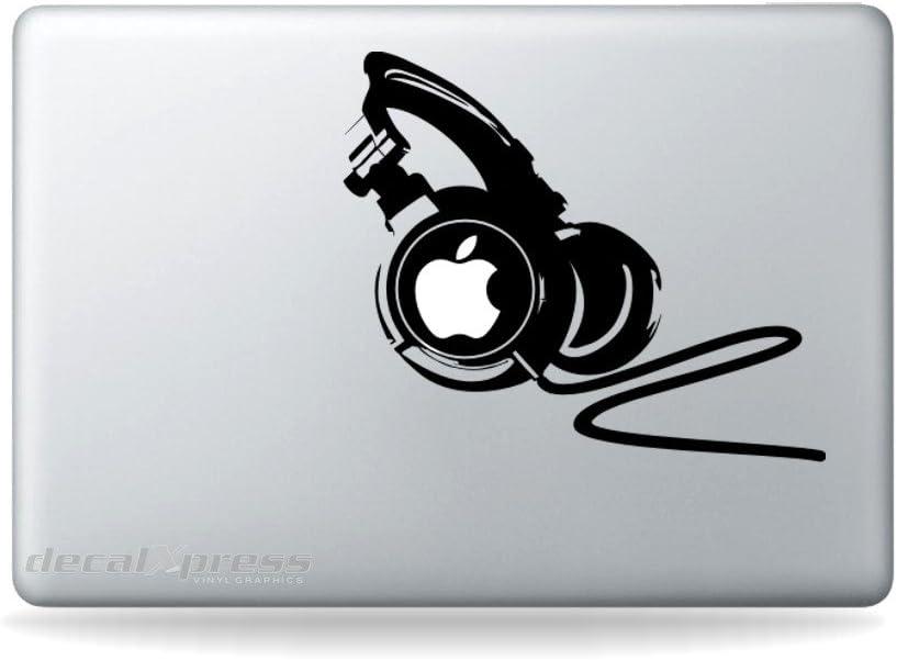 DJ Professional Headphones 2- Decal Sticker for MacBook, Air, Pro All Models