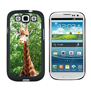 Giraffe - African Zoo Animal - Snap On Hard Protective Case for Samsung Galaxy S3 - Black