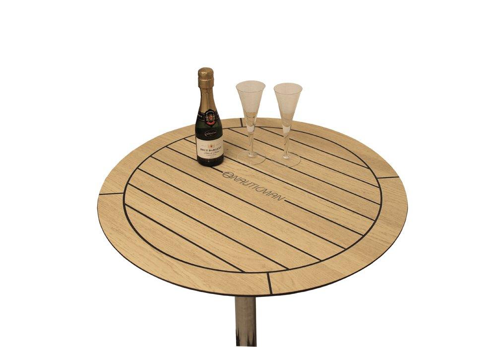 NAUTICMAN® Bootstisch rund 60cm Nordic Oak