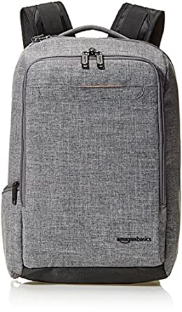 AmazonBasics Slim Carry On Travel Backpack, Grey - Overnight