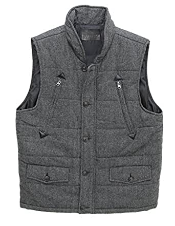 Buffalo David Bitton Men's Jerome Vest-Heather Grey-XL