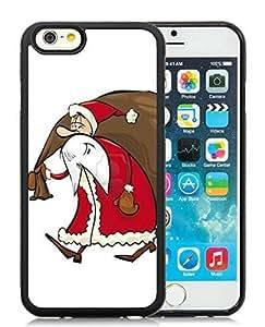 Diy Design iPhone 6 Case,Santa Claus Black iPhone 6 4.7 Inch TPU Case 21