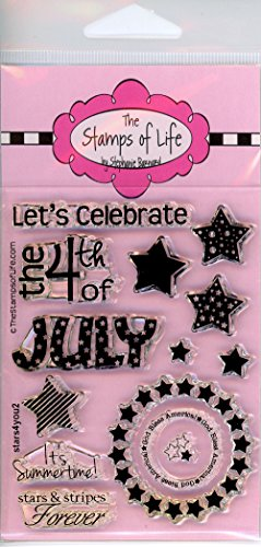 - America 4th of July Stamps for Scrapbooking and Card-Making by The Stamps of Life - MiniStars4You Independence Day