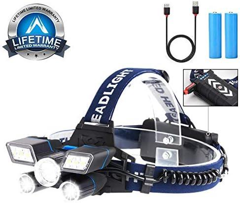 Rechargeable Indicator Waterproof Headlight Headlamps