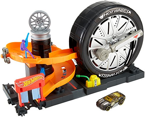 Hot Wheels City Super Spin Tire Shop Playset ()
