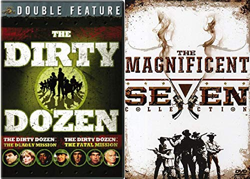12 Convicts & 7 Outlaws Epic Movie Collection DVD Dirty Dozen Deadly Mission / Fatal + Magnificent Seven / Return / Guns & Ride 6 War & Western Film Set -