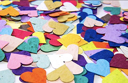 California Poppy Seed Paper (Flower Seed Paper Heart Party Decoration Confetti)
