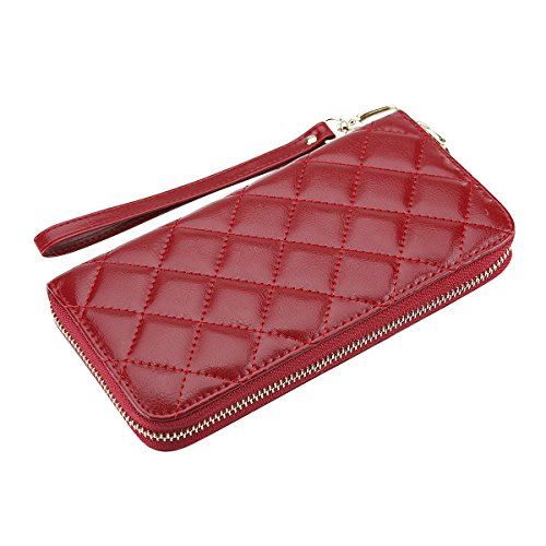 nuo-peng-genuine-leather-clutch-wallet-wristlet-wallet-with-diamond-texture-quilted-material-fit-for